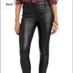 Faux Leather Jeggings by Faded Glory